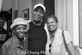 Marjorie Johnson, Richard Wesley and Brenda Denmark Photo by Lia Chang