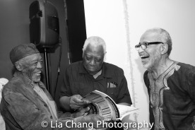 Otto Neals, Woodie King, Jr. and Cliff Frazier Photo by Lia Chang