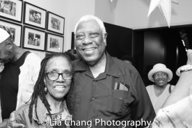 Patricia White and Woodie King, Jr. Photo by Lia Chang