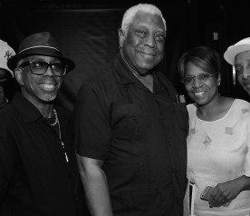 Paul Griffin, Woodie King, Jr. and Peggy Alston Photo by Lia Chang
