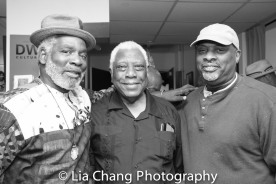 Rome Neal, Woodie King, Jr. and Chris Cumberbatch Photo by Lia Chang