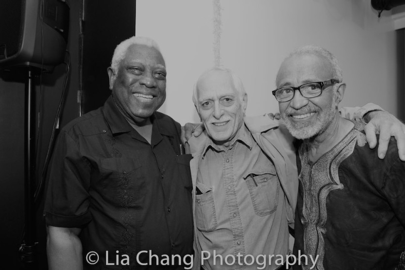 Woodie King, Jr., a guest and Cliff Frazier Photo by Lia Chang