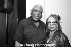 Woodie King, Jr. and a guest Photo by Lia Chang