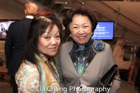 A guest and Shirley Young. Photo by Lia Chang