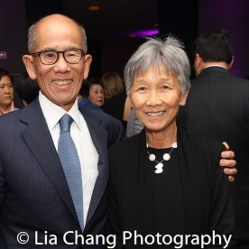 A guest and Hwei Lin Sung. Photo by Lia Chang