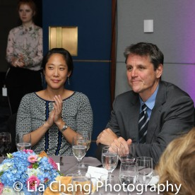 Chanterelle Sung and Asia Society Executive Vice President Thomas Nagorski Photo by Lia Chang