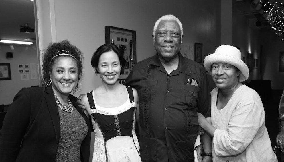 Joyce Sylvester, Lia Chang, Woodie King Jr. and Elizabeth Van Dyke Photo by Garth Kravits