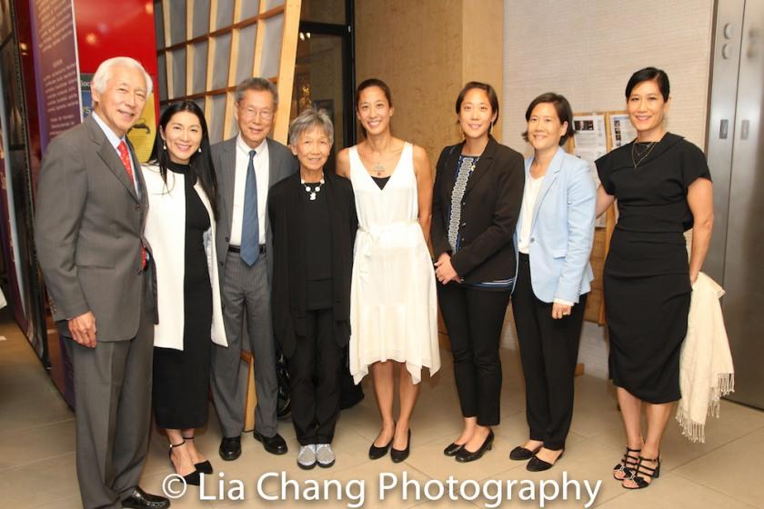 Oscar Tang, Agnes Hsu-Tang, Thomas Sung, Hwei Lin Sung, Heather Sung, Chanterelle Sung, Jill Sung and Vera Sung Photo by Lia Chang