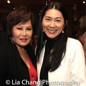 Yue-Sai Kan and Agnes Hsu-Tang. Photo by Lia Chang