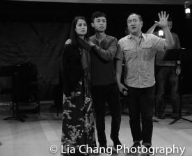 Ali Ewoldt, Jonny Lee, Jr. and GOLD MOUNTAIN Director Alan Muraoka. Photo by Lia Chang