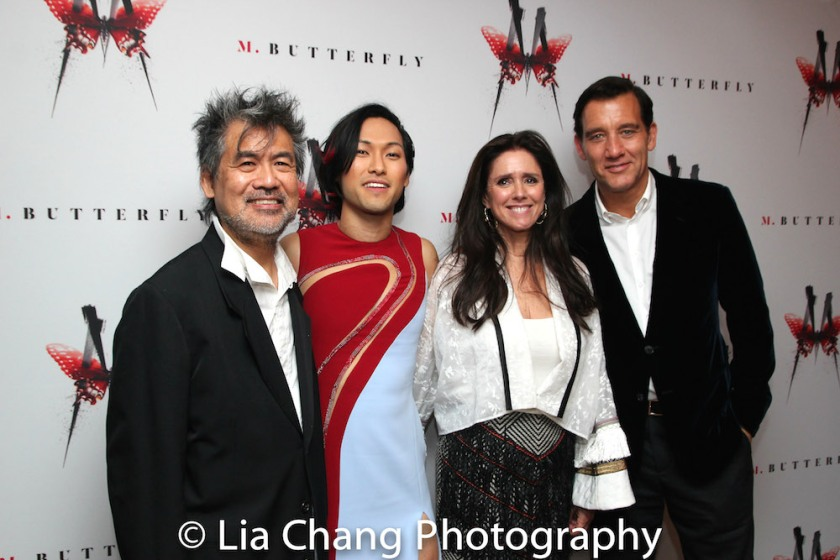 David Henry Hwang, Jin Ha, Julie Taymor and Clive Owen. Photo by Lia Chang