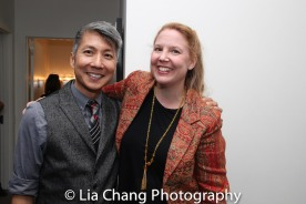 GOLD MOUNTAIN Creator Jason Ma and Prospect Theater Company Artistic Director Cara Reichel. Photo by Lia Chang