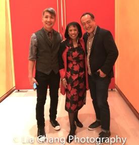 GOLD MOUNTAIN Creator Jason Ma, Baayork Lee, Director Alan Muraoka. Photo by Lia Chang