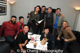 Lawrence-Michael C. Arias, Alex Hsu, Alphonse Gonzales, Daniel May, Marc de la Cruz, Jason Ma, Daniel J. Edwards, Alan Ariano and Andrew Sakaguchi. Photo by Lia Chang