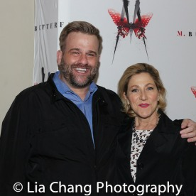 Stephen Wallem and Edie Falco. Photo by Lia Chang