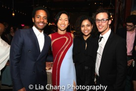 Andre Holland, Jin Ha, Shay Vawn and a guest. Photo by Lia Chang