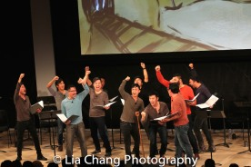 Daniel May, Eric Bondoc, Alan Ariano, Alex Hsu, Steven Eng, Jonny Lee, Jr., Eric Badique, Daniel J. Edwards, Brian Kim, Lawrence-Michael C. Arias and Marc de la Cruz. Photo by Lia Chang