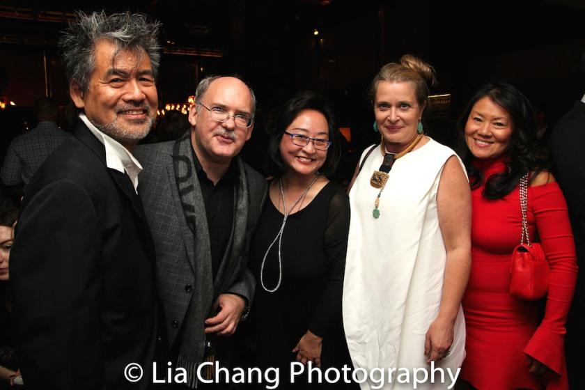 David Henry Hwang, Ken Smith, Joanna C. Lee, Kathryn Layng and Grace Hwang. Photo by Lia Chang