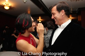 Jin Ha and Clive Owen. Photo by Lia Chang
