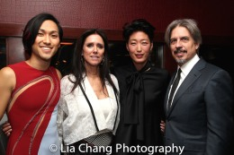 Jin Ha, Julie Taymor, a guest and Elliot Goldenthal. Photo by Lia Chang