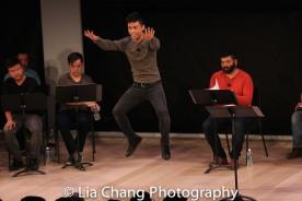 Jonny Lee, Jr. and the ensemble. Photo by Lia Chang