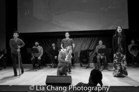 Jonny Lee, Jr., Lawrence-Michael Arias, Daniel J. Edwards, Eric Bondoc, Steven Eng, Brian Kim, Ali Ewoldt and choreographer Billy Bustamante. Photo by Lia Chang