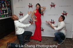 Manny Brown, Erica Wong and a guest. Photo by Lia Chang