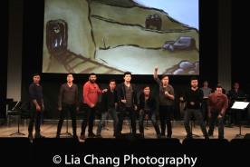 Marc de la Cruz, Daniel May, Lawrence-Michael Arias, Steven Eng, Daniel J. Edwards, Eric Bondoc, Alex Hsu, Eric Badique, Brian Kim. Photo by Lia Chang