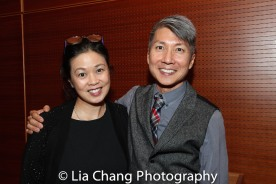 Asian American Artis Alliance Executive Director Andrea Louie and GOLD MOUNTAIN Creator Jason Ma. Photo by Lia Chang
