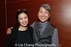 Asian American Artis Alliance Executive Director Andrea Louie and GOLD MOUNTAIN Creator Jason Ma. Photo by Lia Chang