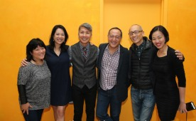 Ann Harada, Christine Toy Johnson, Jason Ma, Alan Muraoka, Francis Jue and Lia Chang. Photo by Bruce Johnson