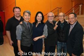 Bruce Johnson, GOLD MOUNTAIN Creator Jason Ma, Christine Toy Johnson, Herb Perry, Francis Jue and Director Alan Muraoka. Photo by Lia Chang