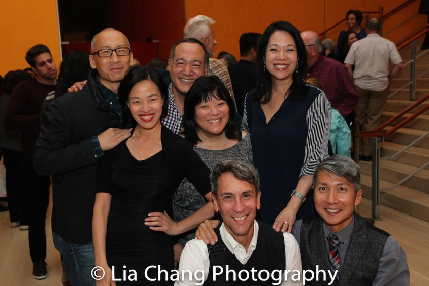 Francis Jue, Lia Chang, Robert Sella, Ann Harada, GOLD MOUNTAIN Director Alan Muraoka, Christine Toy Johnson and Creator Jason Ma. Photo by Daniel J. Edwards