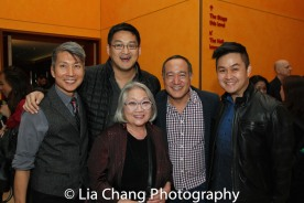 GOLD MOUNTAIN creator Jason Ma, Tim Huang, Virginia Wing, Director Alan Muraoka and a guest. Photo by Lia Chang