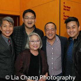 GOLD MOUNTAIN creator Jason Ma, Tim Huang, Virginia Wing, Director Alan Muraoka and a guest. Photo by Lia Chang