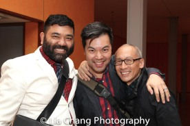 Lawrence-Michael C. Arias, Alex Hsu and Francis Jue. Photo by Lia Chang