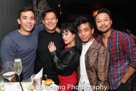 THE KING AND I reunion: Conrad Ricamora, Kelvin Moon Loh, Diane Phelan, Jon Viktor Corpuz and Billy Bustamante. Photo by Lia Chang