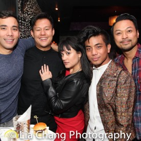 THE KING AND I reunion: Conrad Ricamora, Kelvin Moon Loh, Diane Phelan, Jon Viktor Corpuz and Billy Bustamante. Photo by Lia Chang