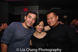Conrad Ricamora, Lia Chang and Kelvin Moon Loh. Photo by Garth Kravits