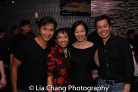 Eric Bondoc, Baayork Lee, Lia Chang and Steven Eng. Photo by Lia Chang