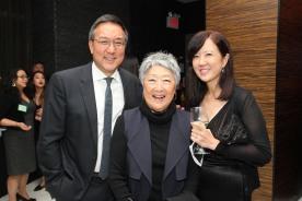 Alexander Tsui, Aiyoung Choi and Susan Kim-Tsui. Photo by Lia Chang