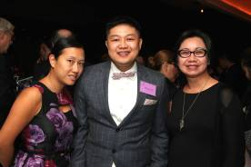 Andrea Wu, Mitchell Wu and Willing Irene Chin-Ma. Photo by Lia Chang