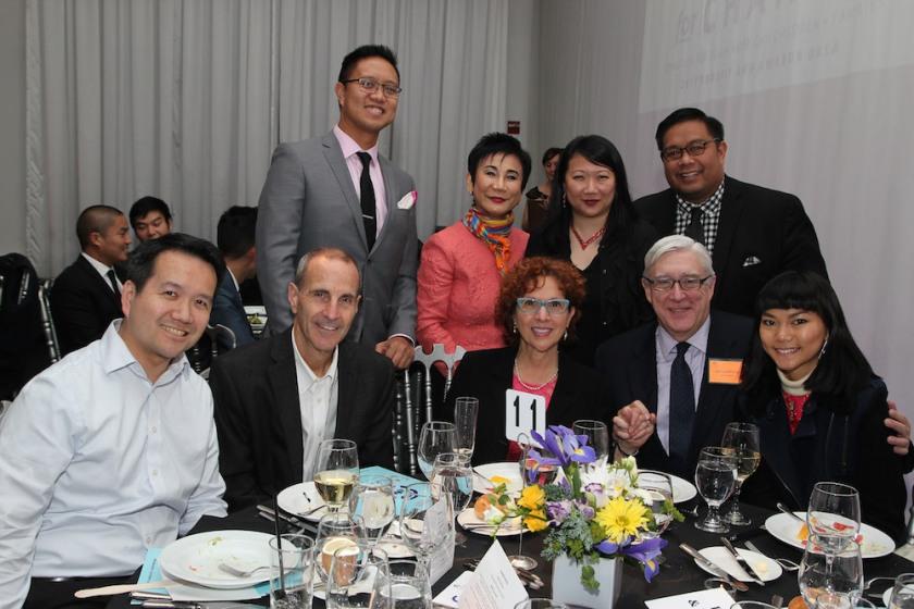 Barbara Turvett, Edward Pauly and guests. Photo by Lia Chang