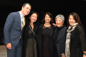 Brian Harlin, a guest, Sayu Bhojwani, Aiyoung Choi and Jessie Harlin. Photo by Lia Chang