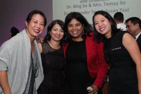 Guests with 2017 Catalyst for Change honorees Sayu Bhojwani and Suyin So. Photo by Lia Chang