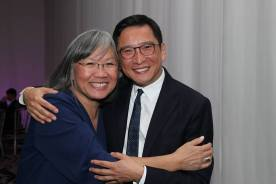 June Jee and Frank Liu. Photo by Lia Chang