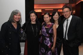 June Jee, Angie Wang, Andrea Wu, Susan Kim-Tsui and Alexander Tsui. Photo by Lia Chang