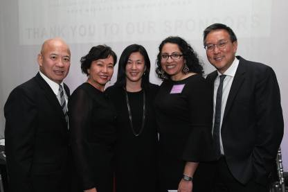 Nelson Louis, Debbie Chan, Angie Wang, Anita Gundanna and Alexander Tsui. Photo by Lia Chang