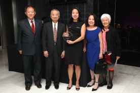 2017 Catalyst for Change honoree Suyin So with her family. Photo by Lia Chang
