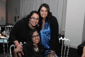 Tuhina De O'Connor, Anita Gundanna and a guest. Photo by Lia Chang